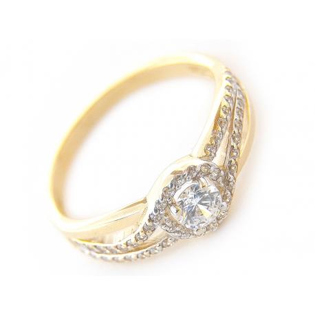 Złoty Pierścionek Zaręczynowy Jubiler Alma